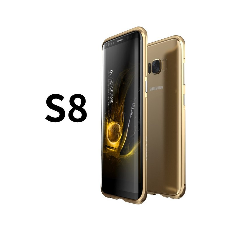 SAMSUNG S8 aluminum-magnesium alloy drop metal frame phone shell shell - quicksand gold