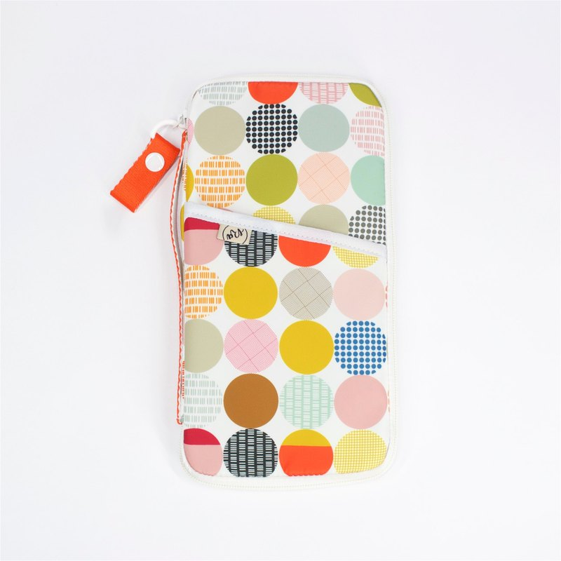 Ra Eco-friendly Super Light Waterproof Passport organiser (Muti-colour Dots)