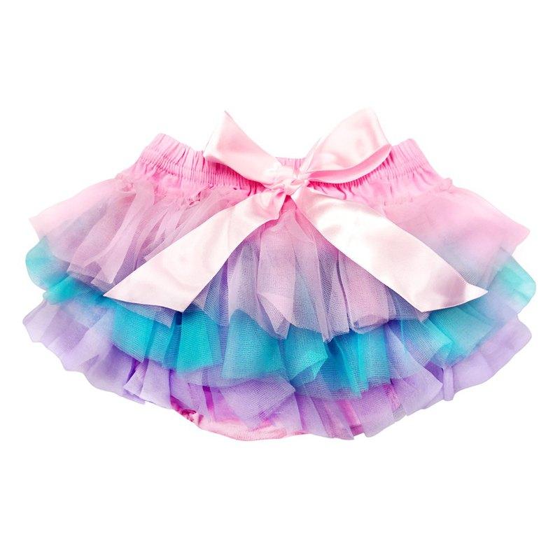 Cutie Bella 雪紡蝴蝶結蓬蓬褲裙 澎澎裙屁屁褲 Rainbow