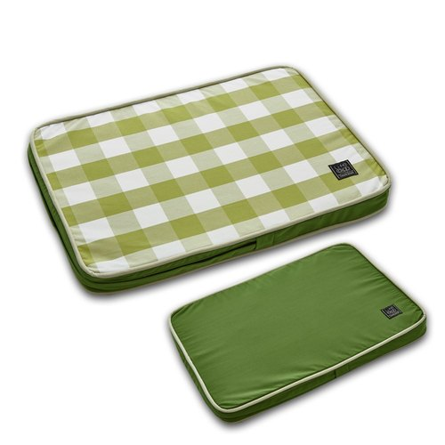 Lifeapp Pet Relief Sleeping Pad Large Plaid - S (Green White) W65 x D45 x H5 cm