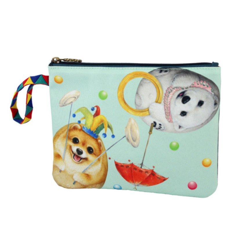 [Henry House Family] Circus Waterproof Cosmetic Bag - Juggling