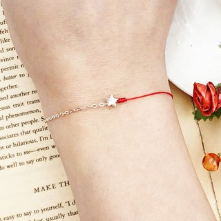 925 sterling silver stars half line half chain silver chain design line and chain combination red line bracelet red rope