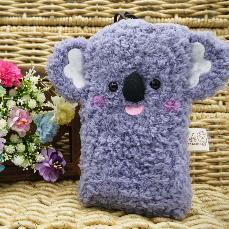 Marshmallow animal cell phone pocket - Koala