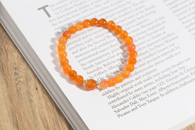 Orange Orange Sunrise Orange Agate Natural Stone Bracelet