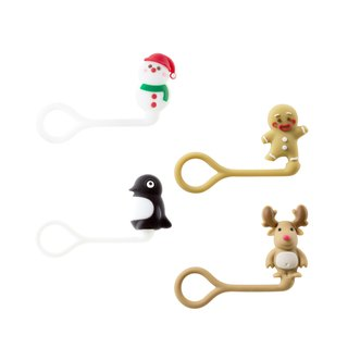 Bone / Xmas Q Cord Ties Christmas Doll Q Drawstring