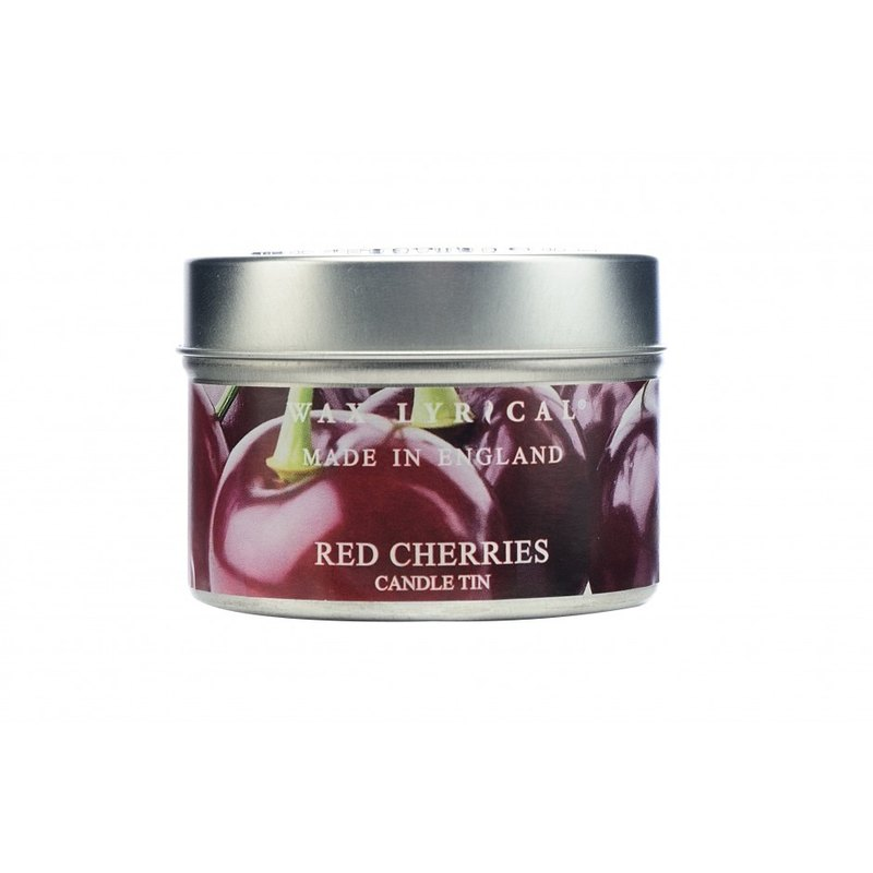 British Candle MIE Series Red Cherry Tin Candle