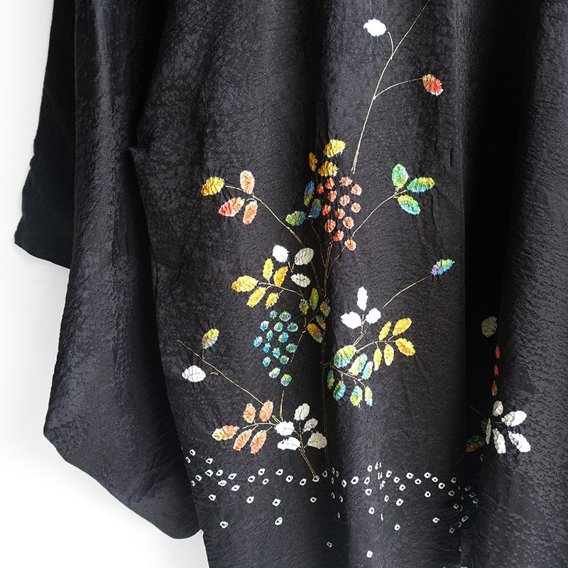 │Slowly│ Japanese antiques - light kimono long coat O17│ vintage. Retro.