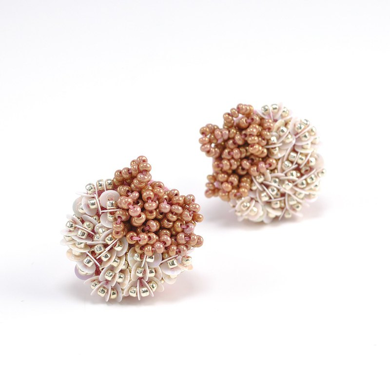 statement and sparkle beaded circle earrings, gorgeous clip on earrings,No.1