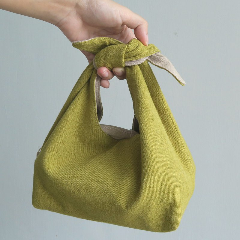 Cotton-Linen 2 way Lunch bag