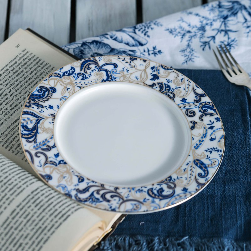 All-blue bone china 8 吋 plate