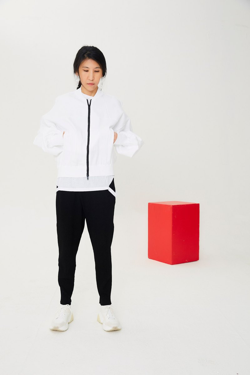 Sporty  Bubble Outwear  Zip Coat
