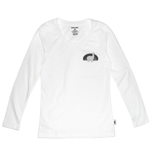 British Fashion Brand [Baker Street] Little Stamp:Alpaca's Journey  Printed Long Sleeve