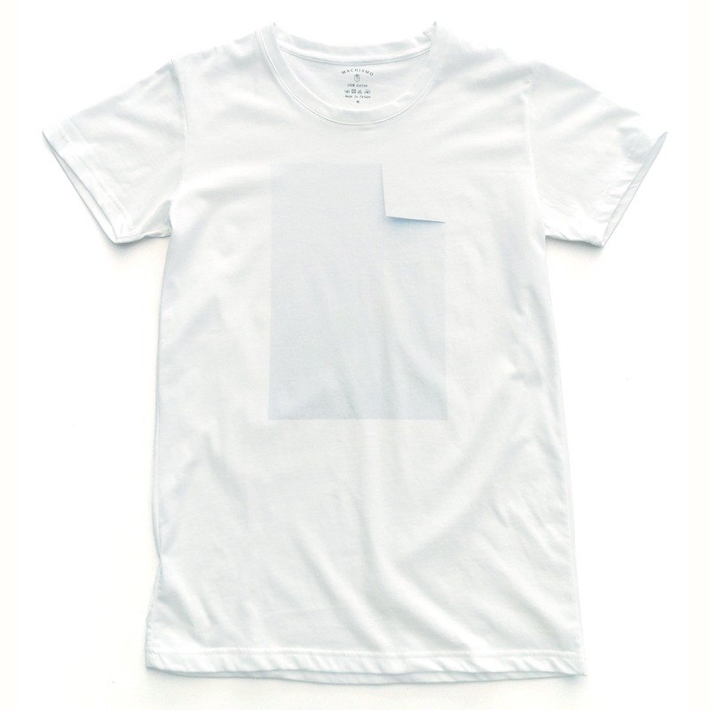 Origami-White T-Shirt-Clear
