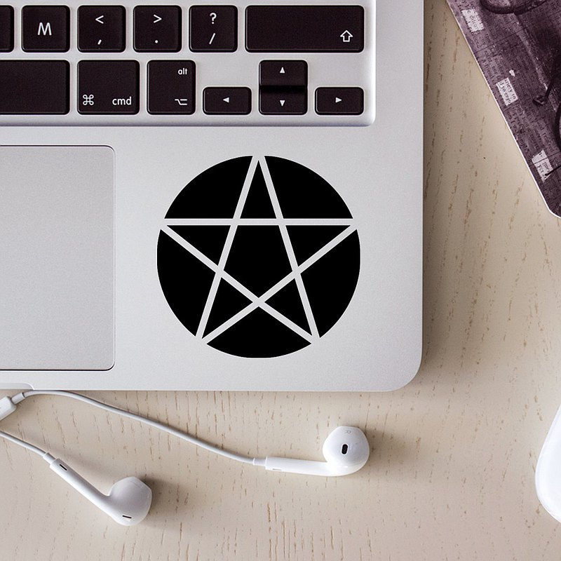 Pentagram Light-Cardian West German Sticker _ Suitable for stickers on laptops, mobile phones, motorcycles, cars, etc.