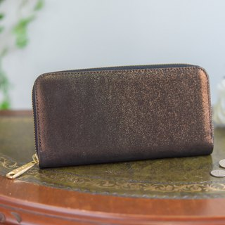Japan manufactured cowhide packaging copper color made in JAPAN handmade leather wallet