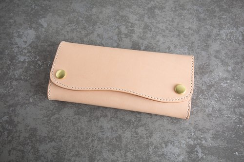 GOURTURE minimalist 10 card long folder Italy imported vegetable tanned leather full handmade - GWL01