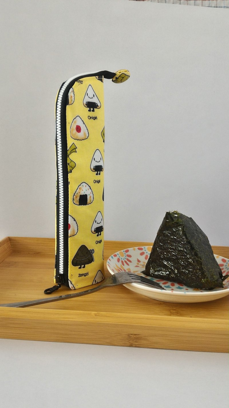 Triangle rice ball upright waterproof tableware bag _2 people _ environmental small things _ Valentine's Day gift
