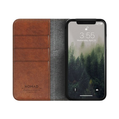 US NOMADxHORWEEN iPhone X classic leather side lift protection cover (855848007137)