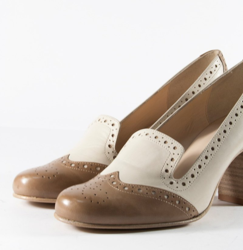 ITA BOTTEGA [Made in Italy classic ladies carved shoes