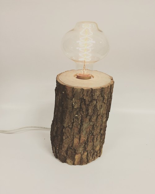 Wooden table lamp 12*10*20 high