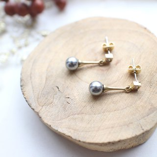 Little magic-Pearl zircon earrings