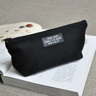 ENDURE word mark / black canvas pencil case