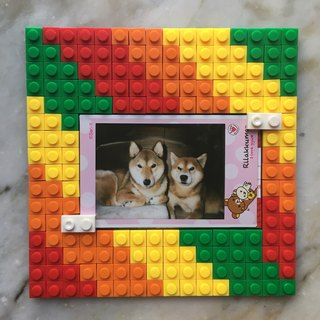 Rainbow photo frame (12.8 x12.8cm)
