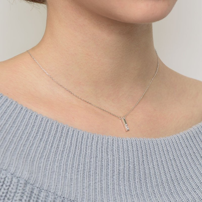 Simple line sterling silver chain - sterling silver / rose gold / 18K gold