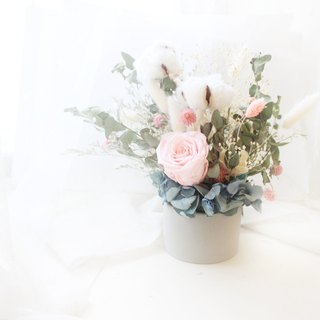 French sweet marshmallow flower small round table flower, elegant powder, eternal rose and cotton flower ceremony