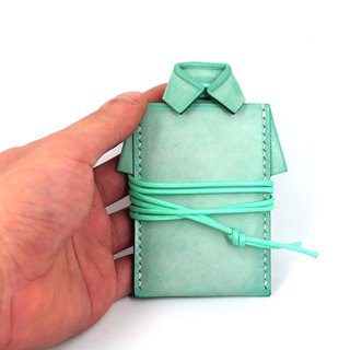 MOOS X WASOME ORIGAMI Fully hand-sewn card holders for yak leather (Mint Green)