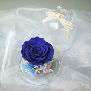 Magic does not withered blue purple rose glass immortality star flower beauty and the beast