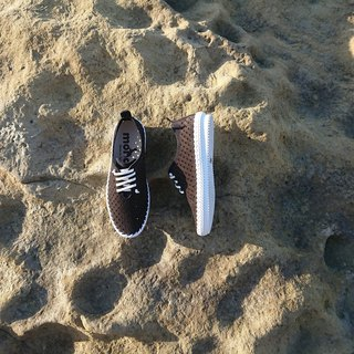 Lei embossed ukiyo-e surf leather casual shoes collection blue black