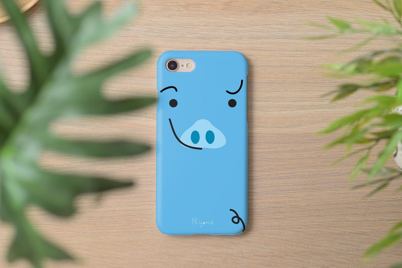iphone case little blue cute pig for iphone5s,6s,6s plus, 7,7+, 8, 8+,iphone x