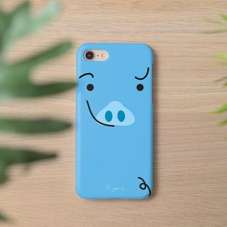 little blue cute pig iphone case สำหรับ iphone7 iphone 8 iphone 8 plus iphone x