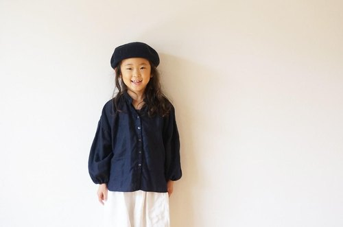◯予約商品◯Linen gather blouse 90,100size