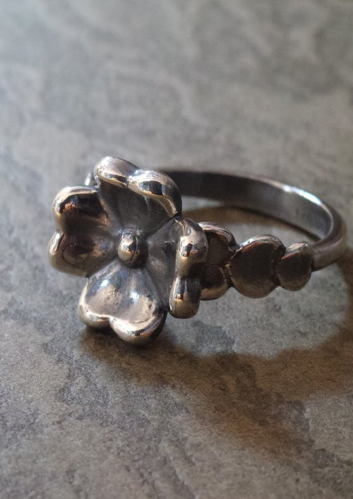 Silver 925 Lucky Clover Ring of Love