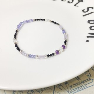 MH sterling silver natural stone custom series _ purple tea _ amethyst