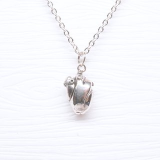 Hairy Silver【Bigger Series-Three-Dimensional Heart Necklace】