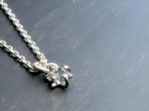 Herkimer diamond necklace Silver
