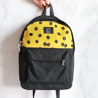 Backpack - yellow coffee beans