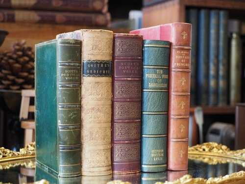 Europe 1800 --1900 years cortex installed genuine antique books (more than one hundred genuine) a group of five