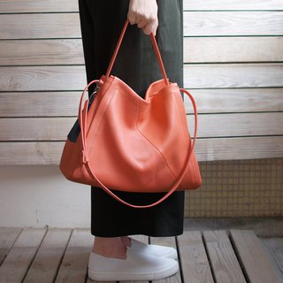 Goody Bag -Tangerine Everyday Hobo Bag+Tassel Set