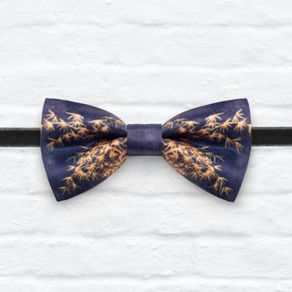Style 0292 Blue Bamboo pattern Bowtie - Navy & White Wedding Bowtie, Gift for Him, Toddler Bow tie, Groomsmen bow tie, Pre Tied and Adjustable Novioshk