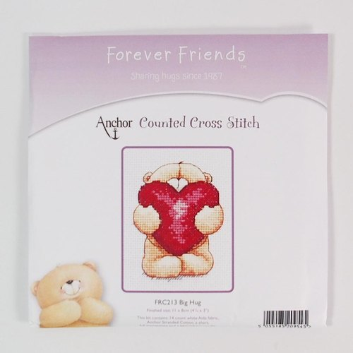FF Teddy Bear Hug Valentine cross stitch []