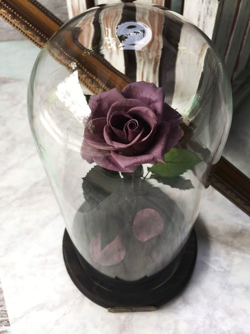 Eternal flowers, not withered - mysterious (purple) impression FloralDesign exclusive production