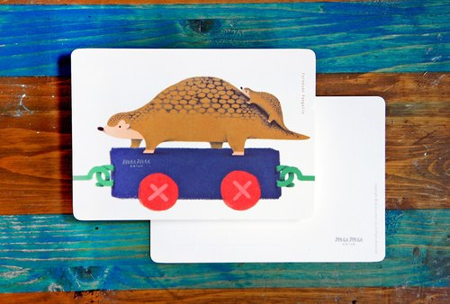 mumu-purpose card / postcard - pangolin