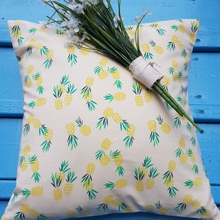 Nordic style yellow pineapple pattern pillow / pillow