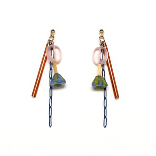 bitter candy beads earrings / earrings
