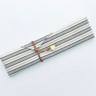 Country striped cutlery storage bag free typing