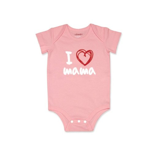 Short-sleeved package fart clothing jumpsuit I❤mama white models